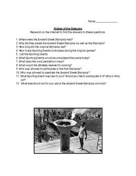 Webquest: Olympic History