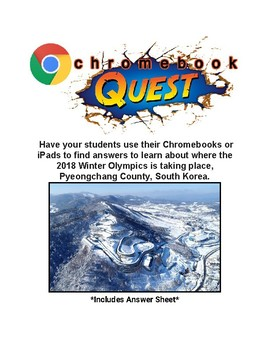 Webquest: Pyeongchang County, South Korea