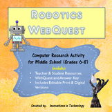 Webquest Scavenger Hunt - Learning about Robotics