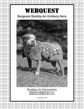 World War 1-Webquest-Sergeant Stubby-An Unlikely Hero