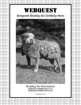 World War 1,WW1, WWI-Webquest-Sergeant Stubby-An Unlikely Hero