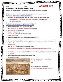 Webquest: The Revolutionary War