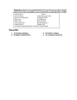 Webquest: Using the metro, mandatos tu / Realidades 2 3b