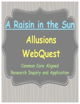 Webquest for Allusions in A Raisin in the Sun