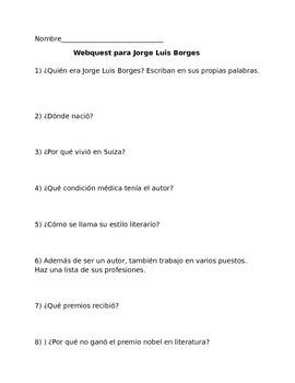 Webquest for Jorge Luis Borges