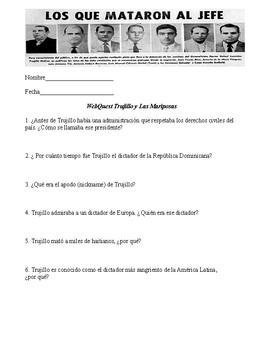 Webquest for dictador Trujillo (Dominican Republic) in Spanish