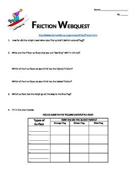 Webquest on Friction