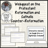 Webquest on the Protestant Reformation PDF, Digital, for G