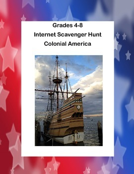 Webquest or Internet Scavenger Hunt  Grades 4-8 Colonial America