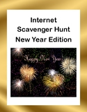 Webquest or Internet Scavenger Hunt  New Year's Edition Grades 4-8