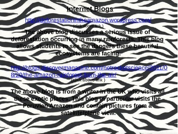 Rainforest Webquest part 2