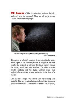 Webquests #4 | U.S.S. Arizona & Sneeze Worksheets (Grades 3-7)