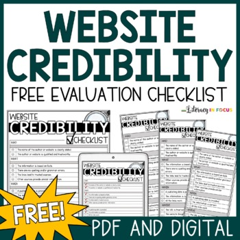 Website Credibility Reference Card