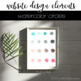 Website Design Elements: Watercolor Circles PNGs for Sites