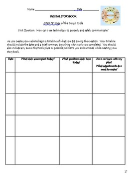Website Design Project Using Weebly: Includes MYP Technology Criteria