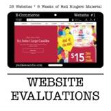 Website Evaluation Bell Ringers for Web Design