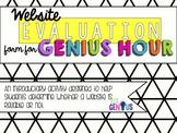 Website Evaluation Form for Genius Hour