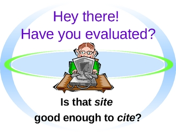 Website Evaluation PowerPoint