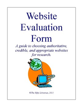 Website Evaluation Worksheet Check List and Scoring Guide
