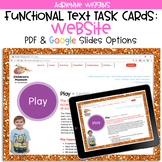 Website Functional Text Task Cards