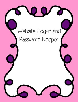 Website Log In and Password Keeper