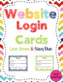 Website Login Cards