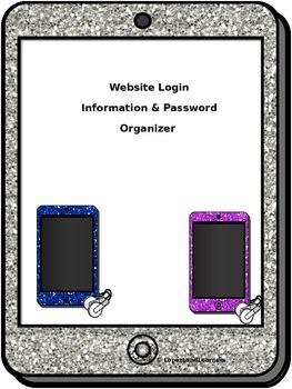Website Login Information & Password Organizer FREEBIE