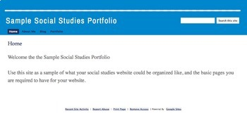 Website Portfolio Assignment & Rubric
