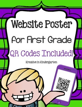 Website Poster for First Grade