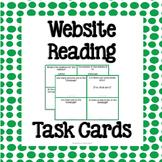 Website Reading Task Cards