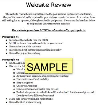 Website Review Handout