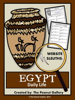 Website Sleuths- Ancient Egypt (Daily Life)