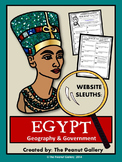 Website Sleuths- Ancient Egypt (Geography and Government)