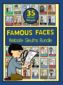 Website Sleuths Bundle: Famous Faces