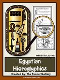 Website Sleuths: Egyptian Hieroglyphics