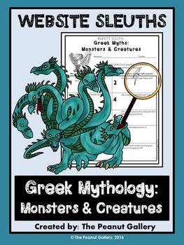 Website Sleuths: Greek Mythology Monsters & Creatures