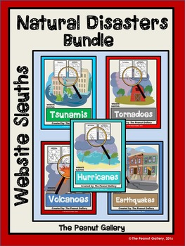 Website Sleuths: Natural Disasters Bundle