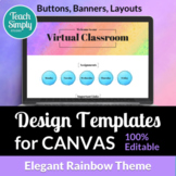 Website Templates for CANVAS - Buttons Banners Layouts | Elegant Rainbow Theme