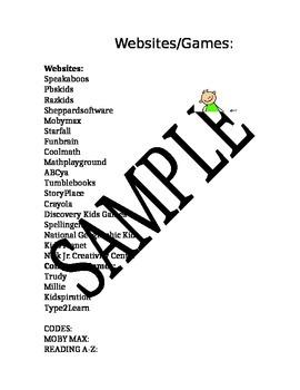 Websites for kids!