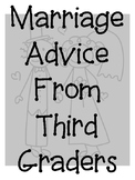 Wedding Advice from students to teacher grades 1-5