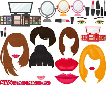 Wedding Beauty Make Up Props Party Photo Booth Birthday Clipart Sweet diy -343s