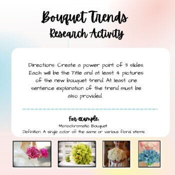 Wedding Bouquet Trends- Floral Design, Agriculture Science