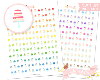 wedding cake printable planner stickers by robin printables tpt