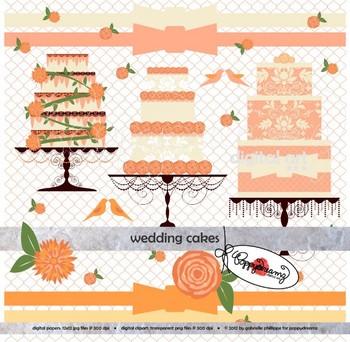 Wedding Cakes Clipart by Poppydreamz