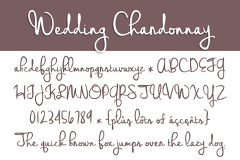 Wedding Chardonnay Font for Commercial Use