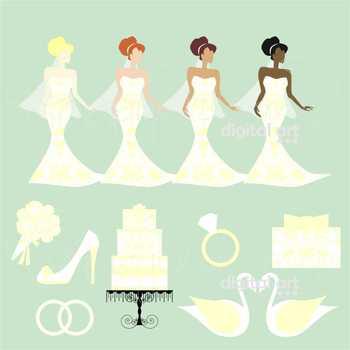 Wedding Day 01 Clipart by Poppydreamz