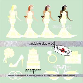 Wedding Day 02 Clipart by Poppydreamz