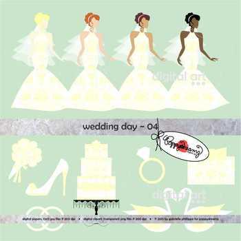 Wedding Day 04 Clipart by Poppydreamz
