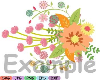 Wedding Flowers Invitation clip art floral roses Banners labels Spring diy -16sv