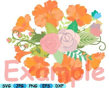 Wedding Flowers Invitation clip art floral roses Banners valentine Spring -153s